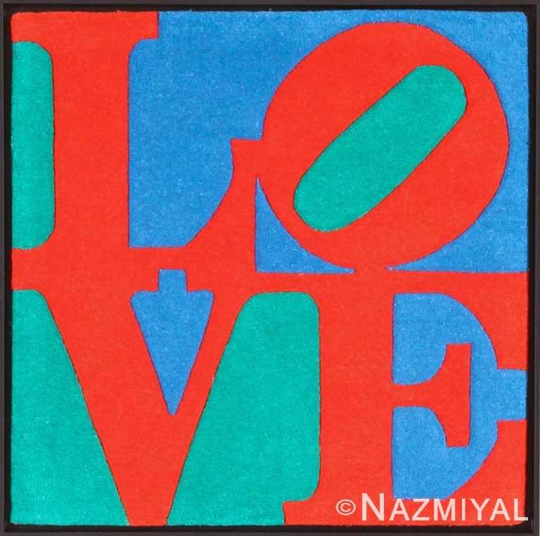 modern pop art love rug by robert indiana 49562 Nazmiyal