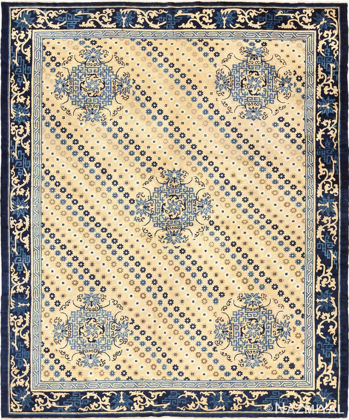 Decorative Room Size Antique Oriental Chinese Rug 49542 by Nazmiyal