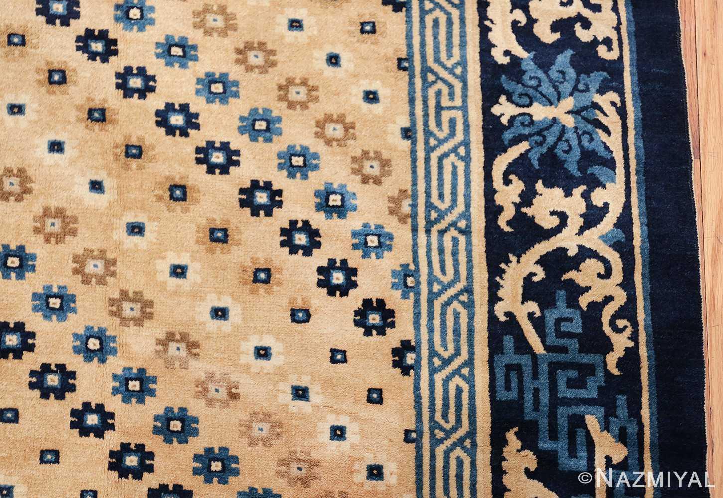 room size antique chinese rug 49542 border Nazmiyal