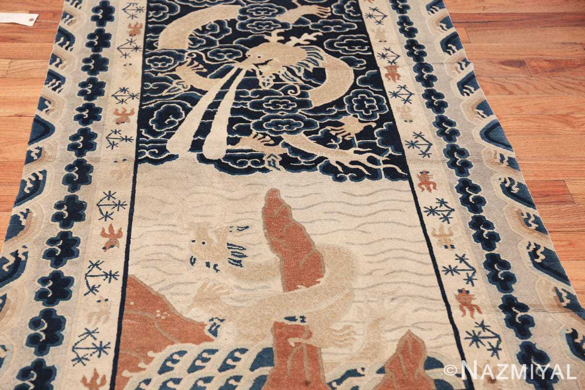 small size antique chinese rug 49581 field Nazmiyal