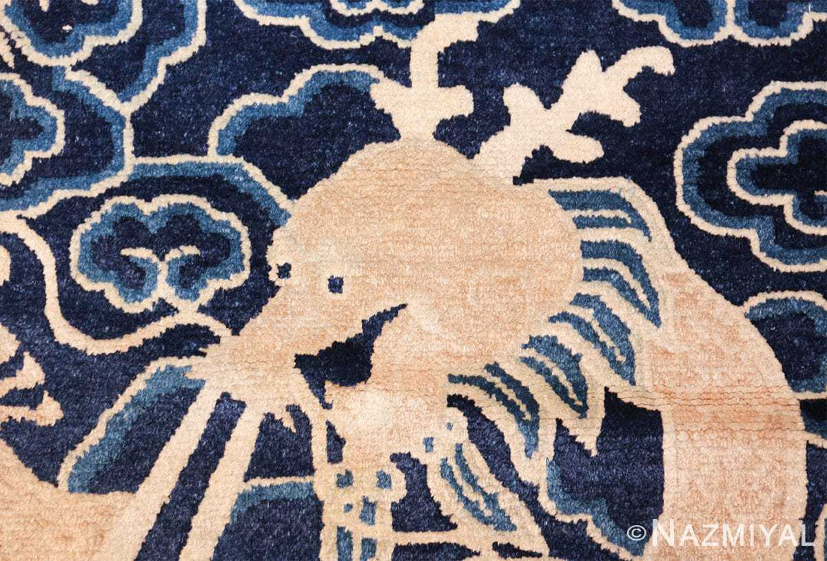 small size antique chinese rug 49581 head Nazmiyal
