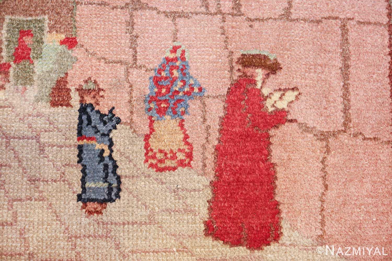 small size antique marbediah israeli rug 49589 rabbai Nazmiyal