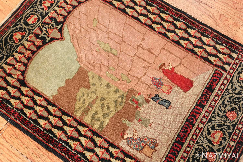 small size antique marbediah israeli rug 49589 side Nazmiyal