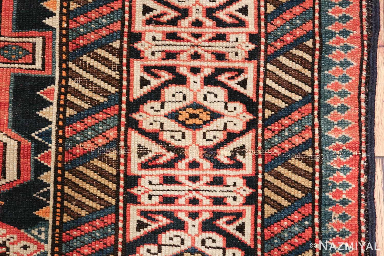 small size antique tribal perpedil caucasian rug 49540 border Nazmiyal