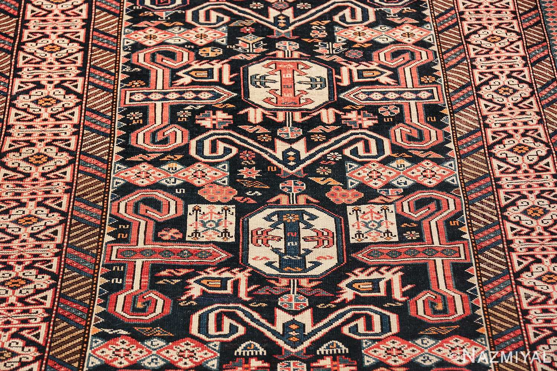 small size antique tribal perpedil caucasian rug 49540 field Nazmiyal
