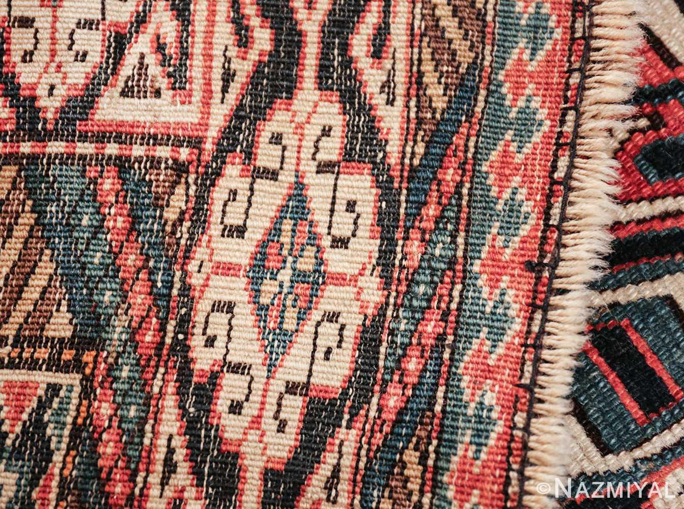small size antique tribal perpedil caucasian rug 49540 knots Nazmiyal