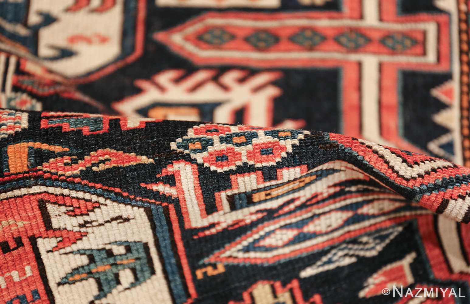 small size antique tribal perpedil caucasian rug 49540 pile Nazmiyal