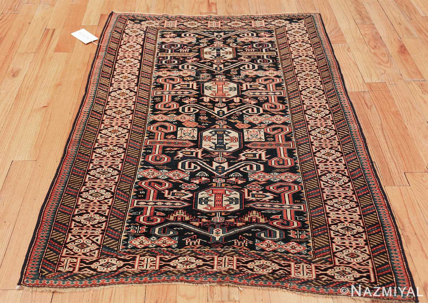 small size antique tribal perpedil caucasian rug 49540 whole Nazmiyal