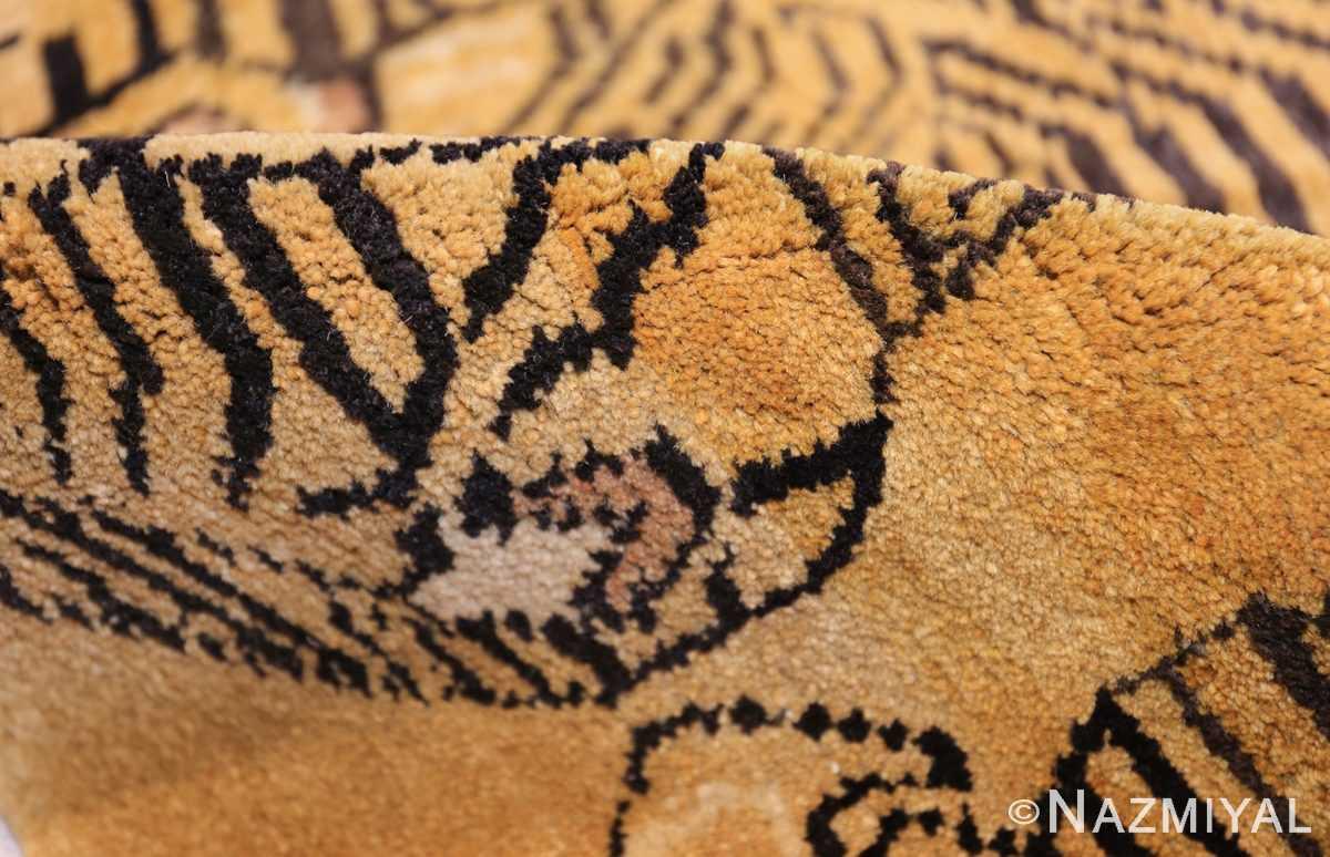 tiger design vintage chinese rug 49560 pile Nazmiyal