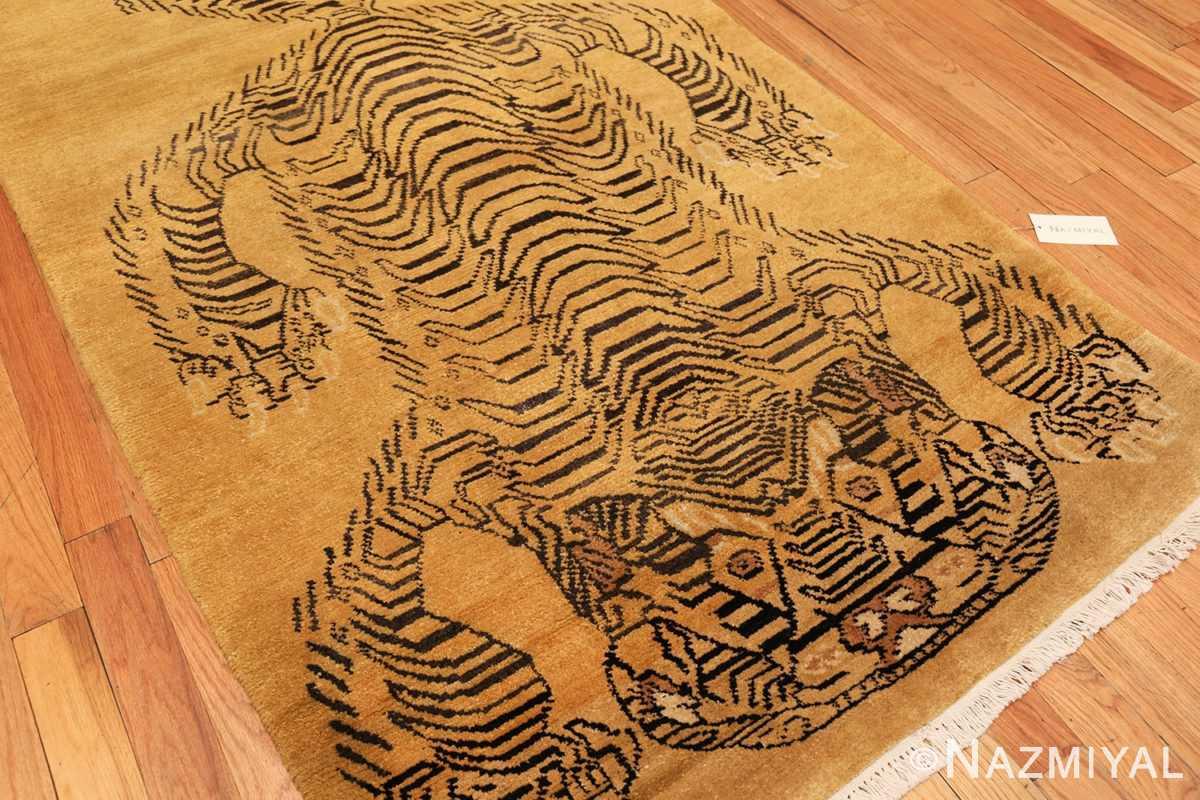 tiger design vintage chinese rug 49560 side Nazmiyal