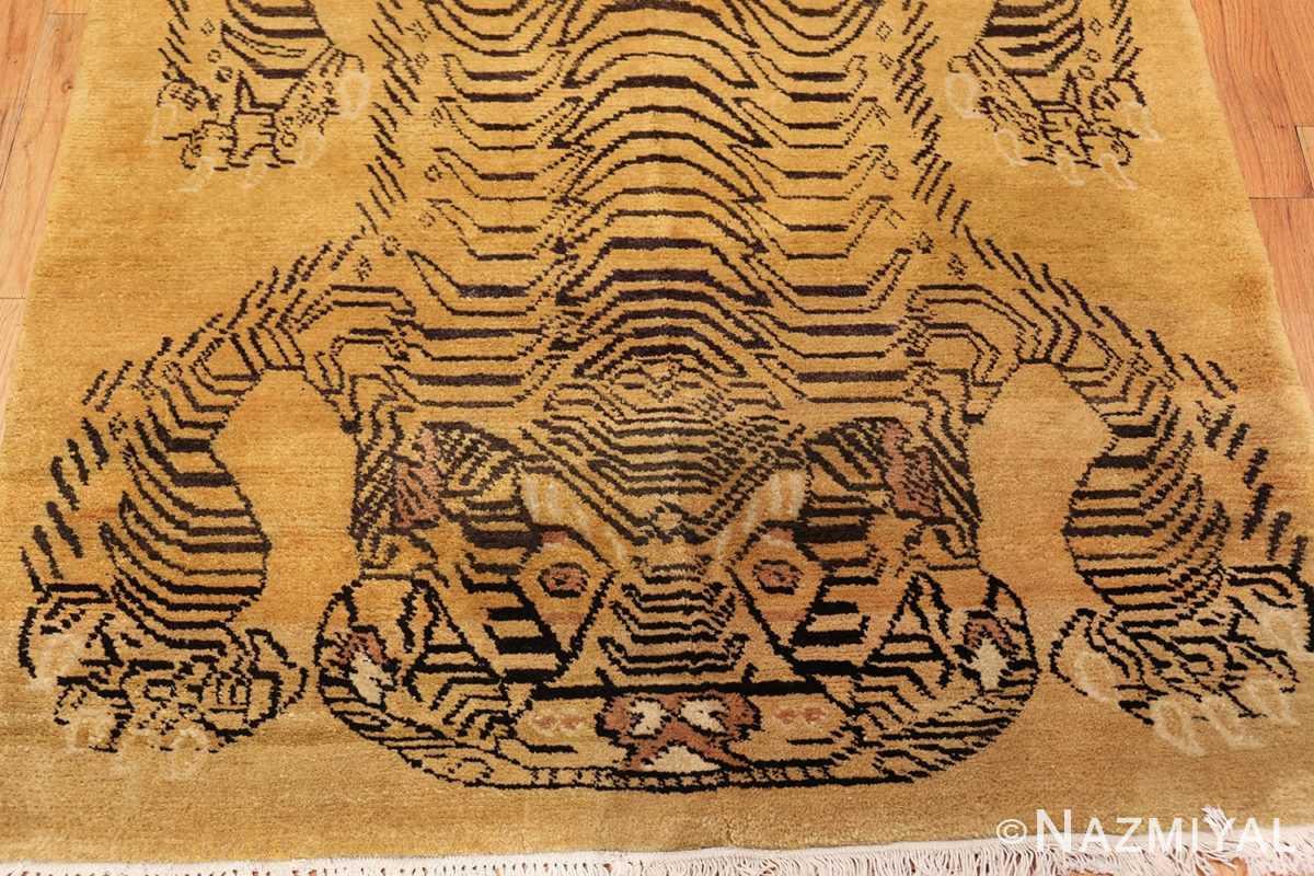 tiger design vintage chinese rug 49560 top Nazmiyal