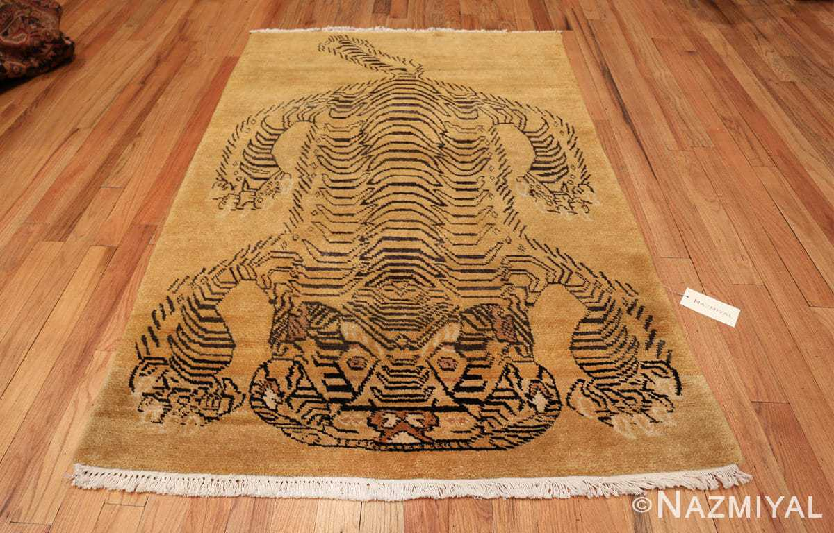 tiger design vintage chinese rug 49560 whole Nazmiyal