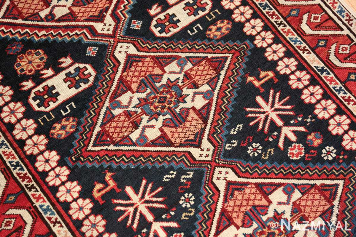 tribal antique shirvan caucasian rug 49580 central medallion Nazmiyal