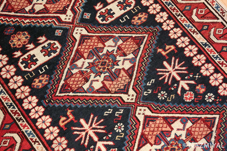 tribal antique shirvan caucasian rug 49580 central medallion Nazmiyal