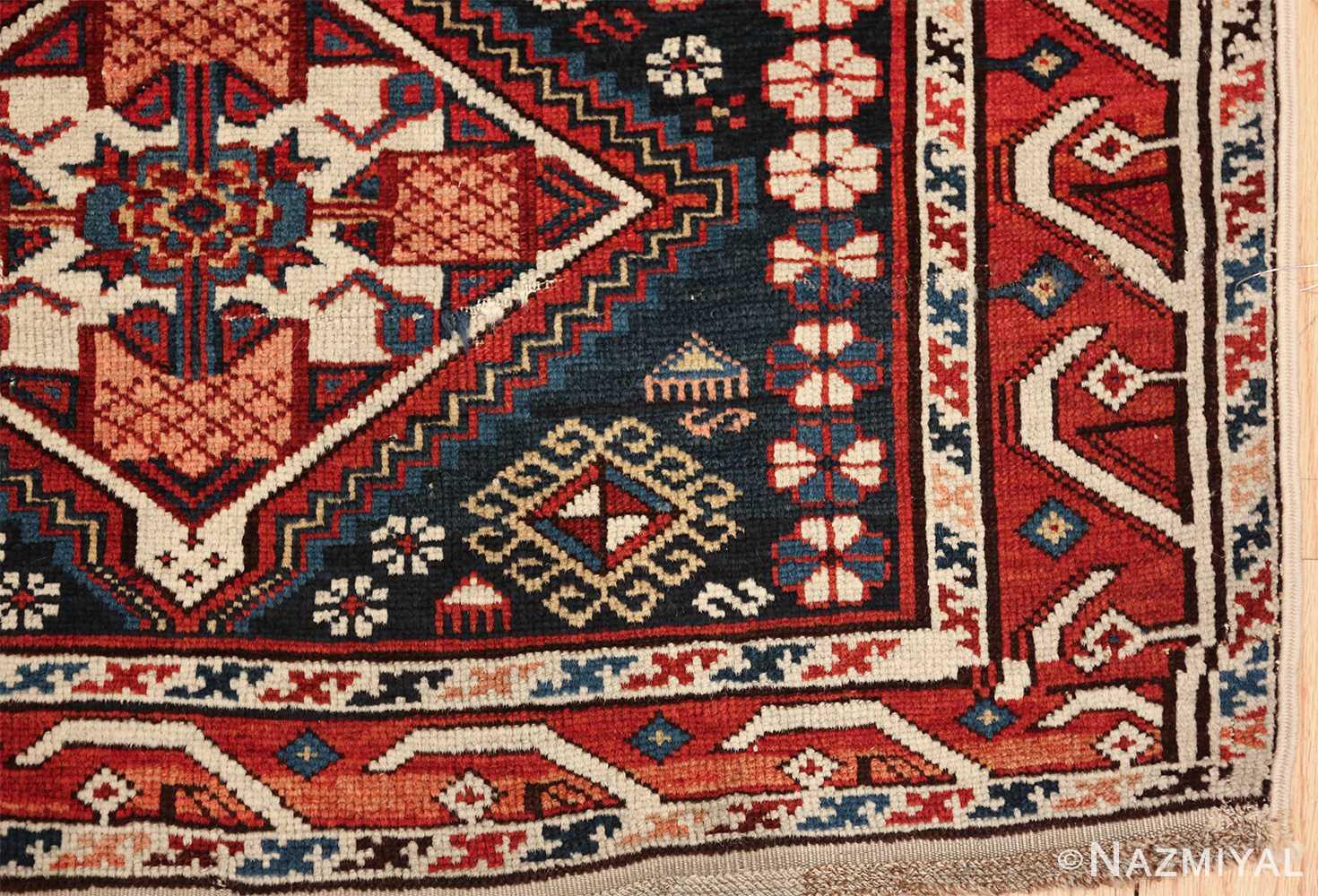 tribal antique shirvan caucasian rug 49580 corner Nazmiyal