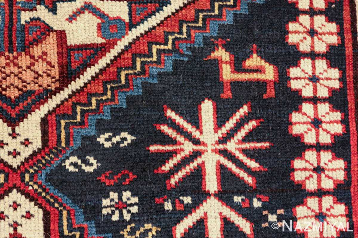 tribal antique shirvan caucasian rug 49580 horse Nazmiyal