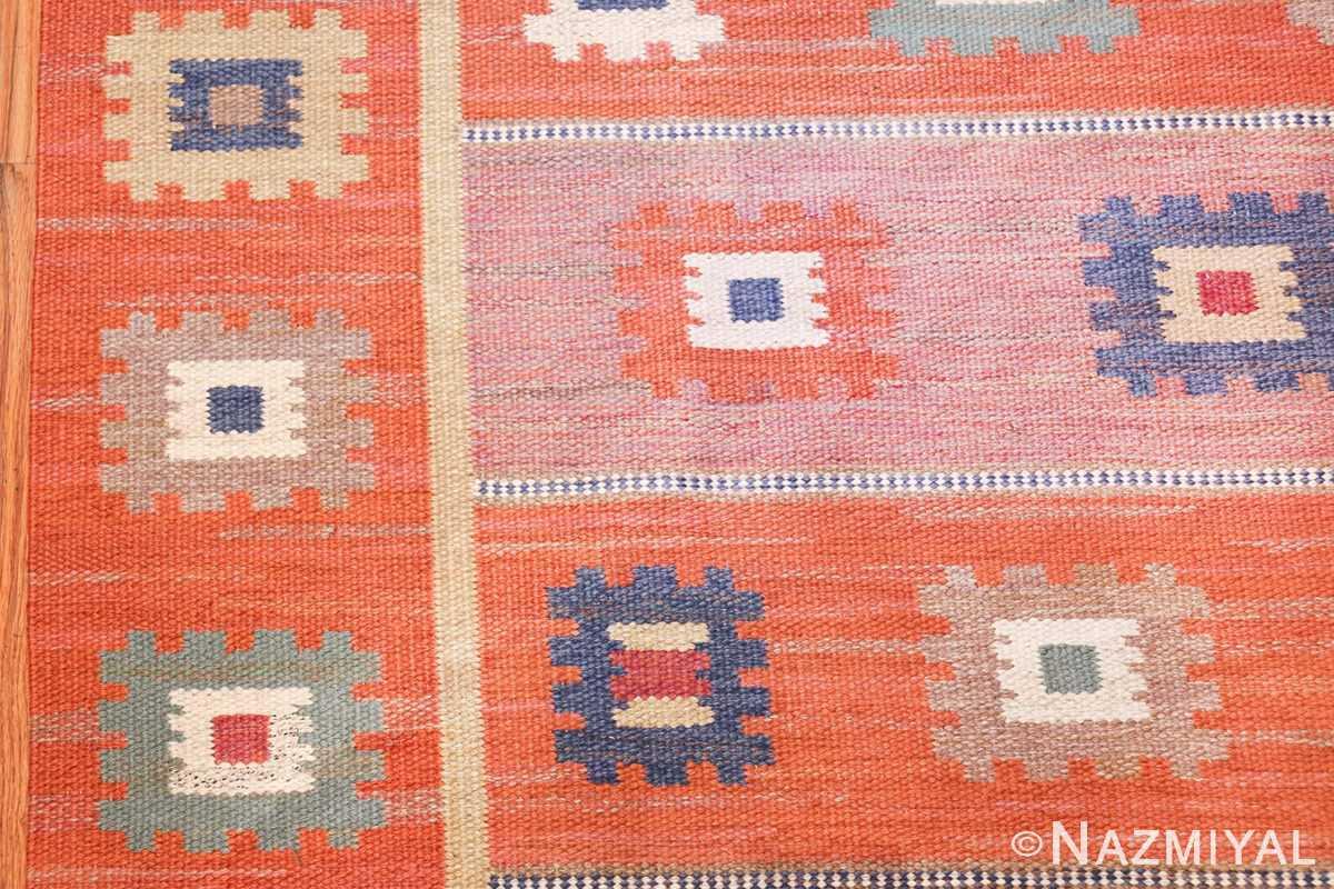 vintage flat woven marta maas scandinavian rug 49568 border Nazmiyal