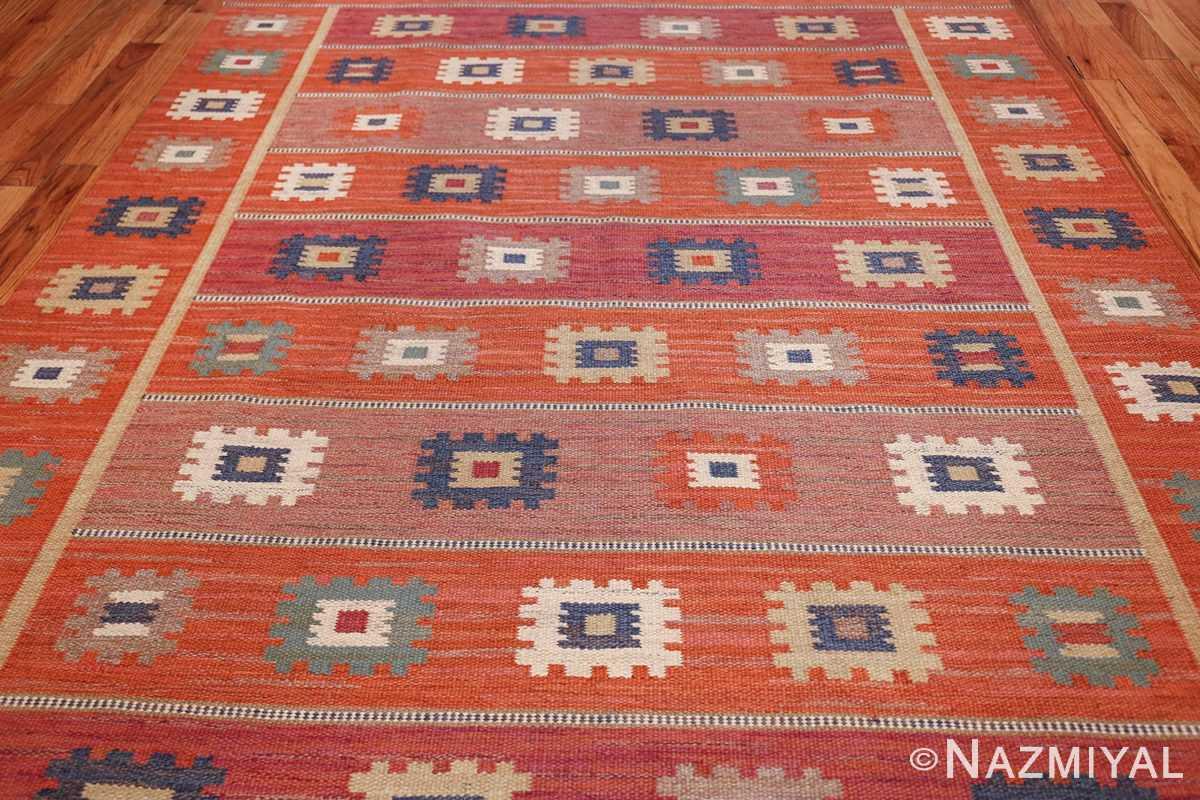 vintage flat woven marta maas scandinavian rug 49568 field Nazmiyal