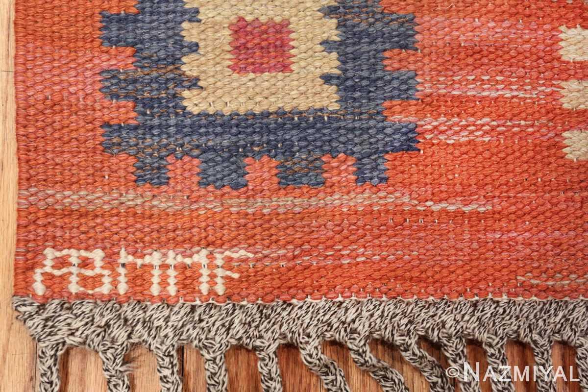 vintage flat woven marta maas scandinavian rug 49568 mmf Nazmiyal