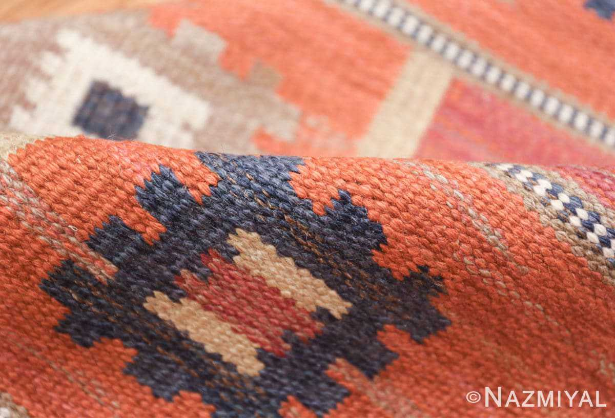 vintage flat woven marta maas scandinavian rug 49568 pile Nazmiyal
