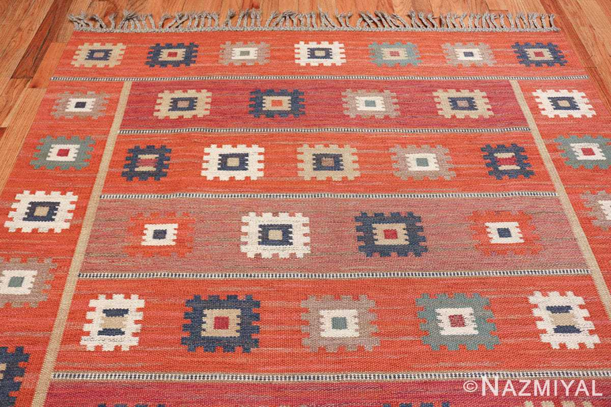 vintage flat woven marta maas scandinavian rug 49568 top Nazmiyal