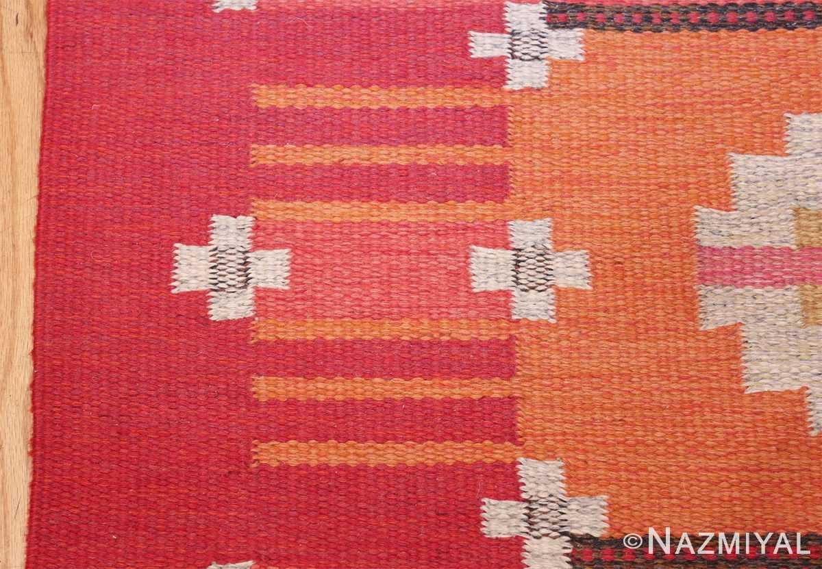 vintage flat woven scandinavian rug by ingegerd silow 49583 border Nazmiyal