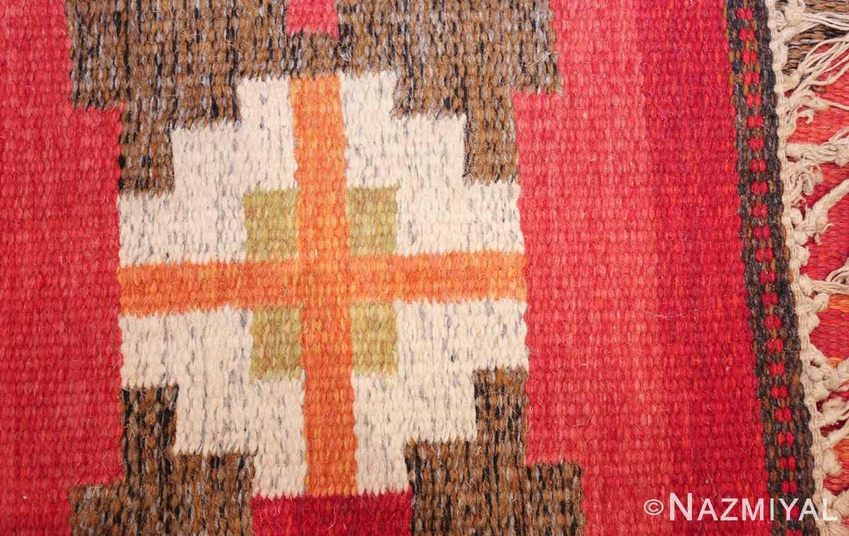 vintage flat woven scandinavian rug by ingegerd silow 49583 knots Nazmiyal