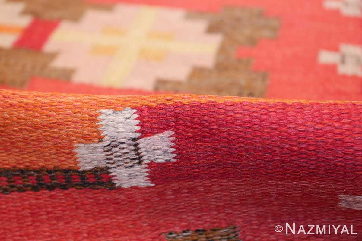 vintage flat woven scandinavian rug by ingegerd silow 49583 pile Nazmiyal