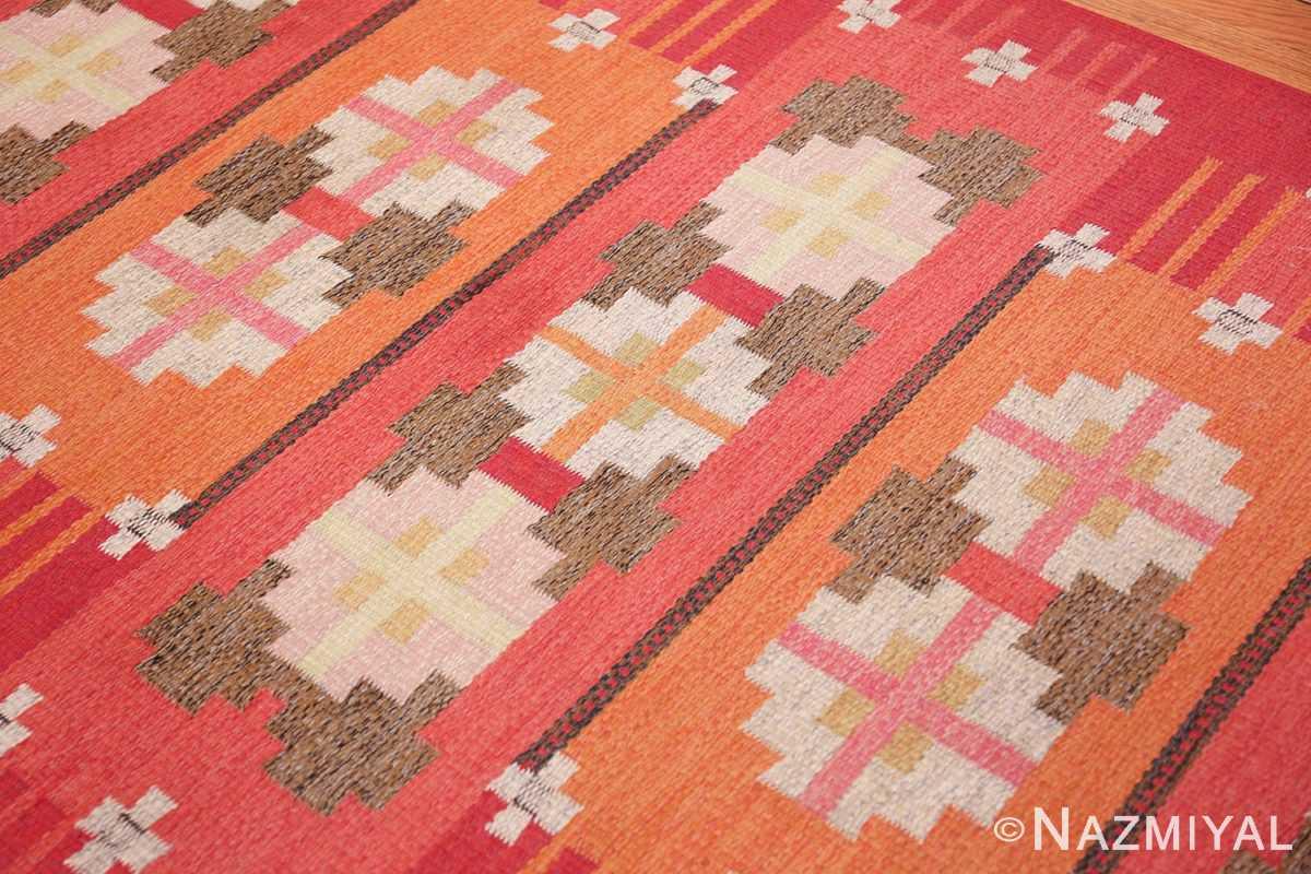 vintage flat woven scandinavian rug by ingegerd silow 49583 side Nazmiyal