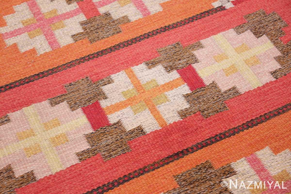 vintage flat woven scandinavian rug by ingegerd silow 49583 square Nazmiyal