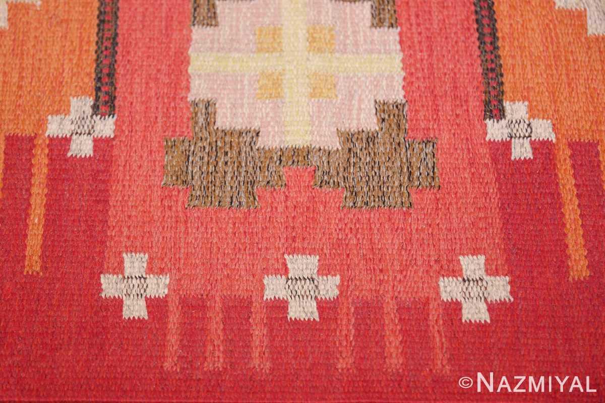 vintage flat woven scandinavian rug by ingegerd silow 49583 star Nazmiyal
