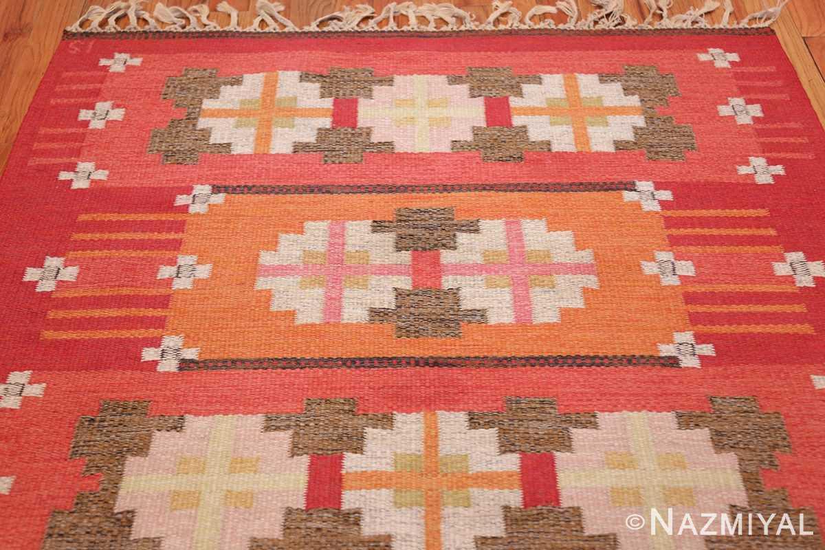 vintage flat woven scandinavian rug by ingegerd silow 49583 top Nazmiyal
