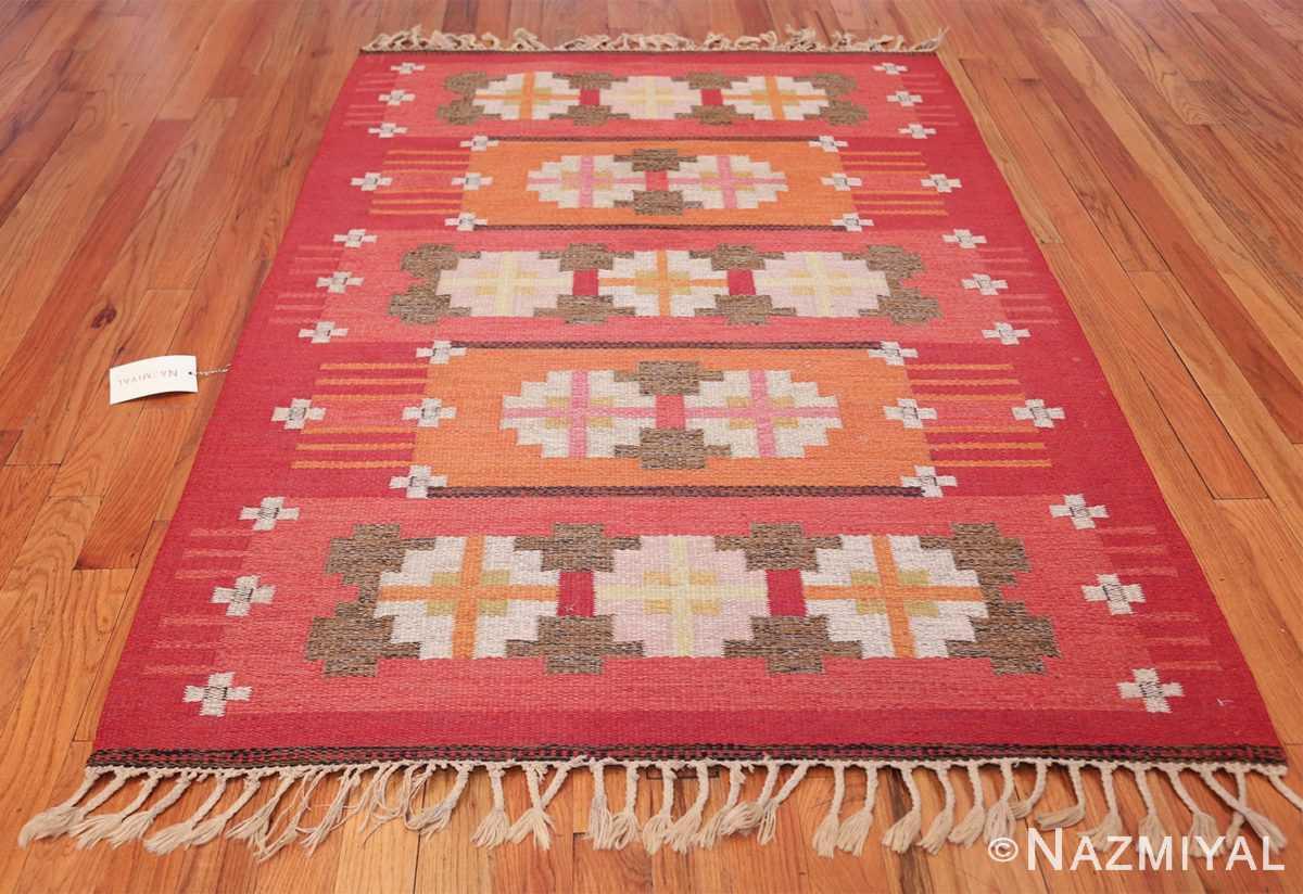 vintage flat woven scandinavian rug by ingegerd silow 49583 whole Nazmiyal