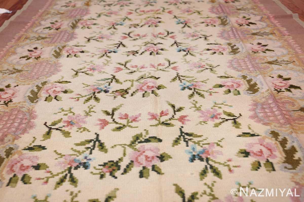 vintage floral romanian bessarabian rug 50379 field Nazmiyal