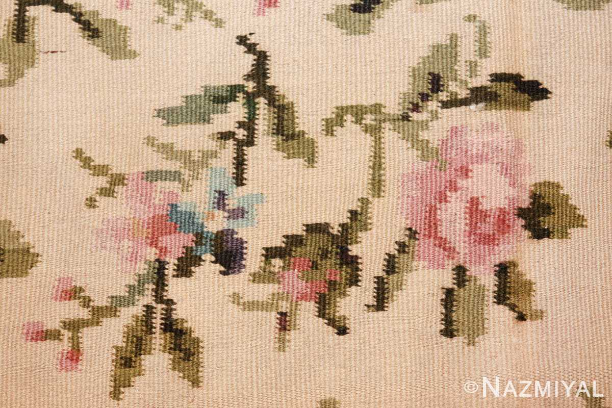 vintage floral romanian bessarabian rug 50379 rose Nazmiyal