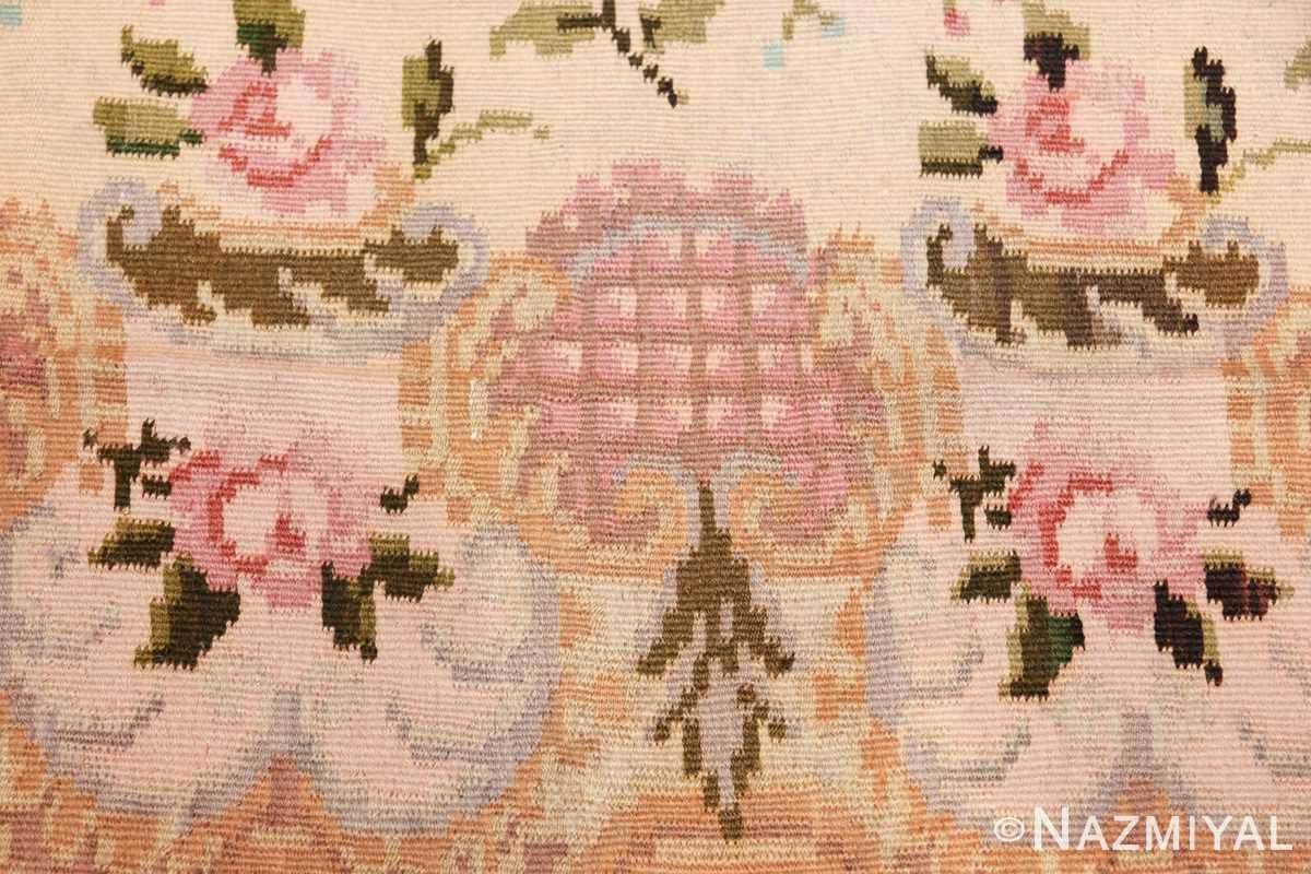 vintage floral romanian bessarabian rug 50379 round Nazmiyal