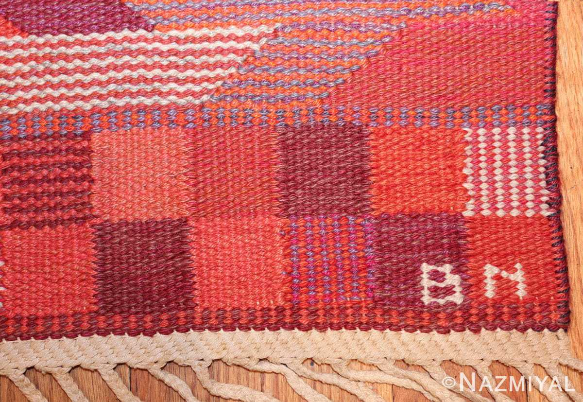 vintage geometric marta maas scandinavian rug by barbro nilsson 49563 bn Nazmiyal