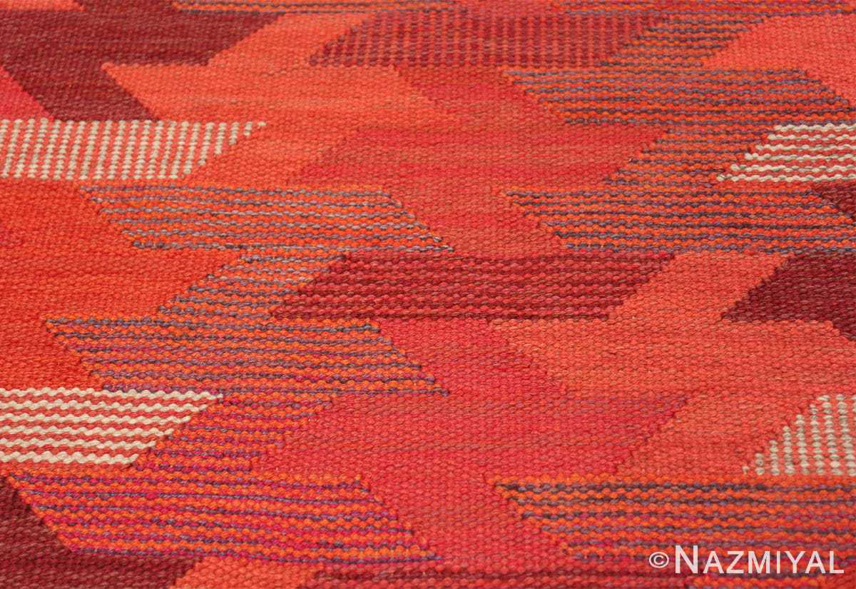 vintage geometric marta maas scandinavian rug by barbro nilsson 49563 colors Nazmiyal