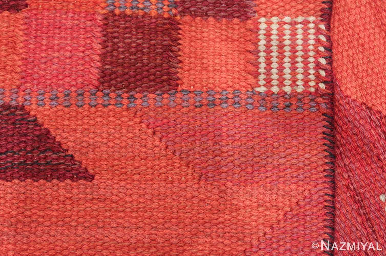 vintage geometric marta maas scandinavian rug by barbro nilsson 49563 knots Nazmiyal