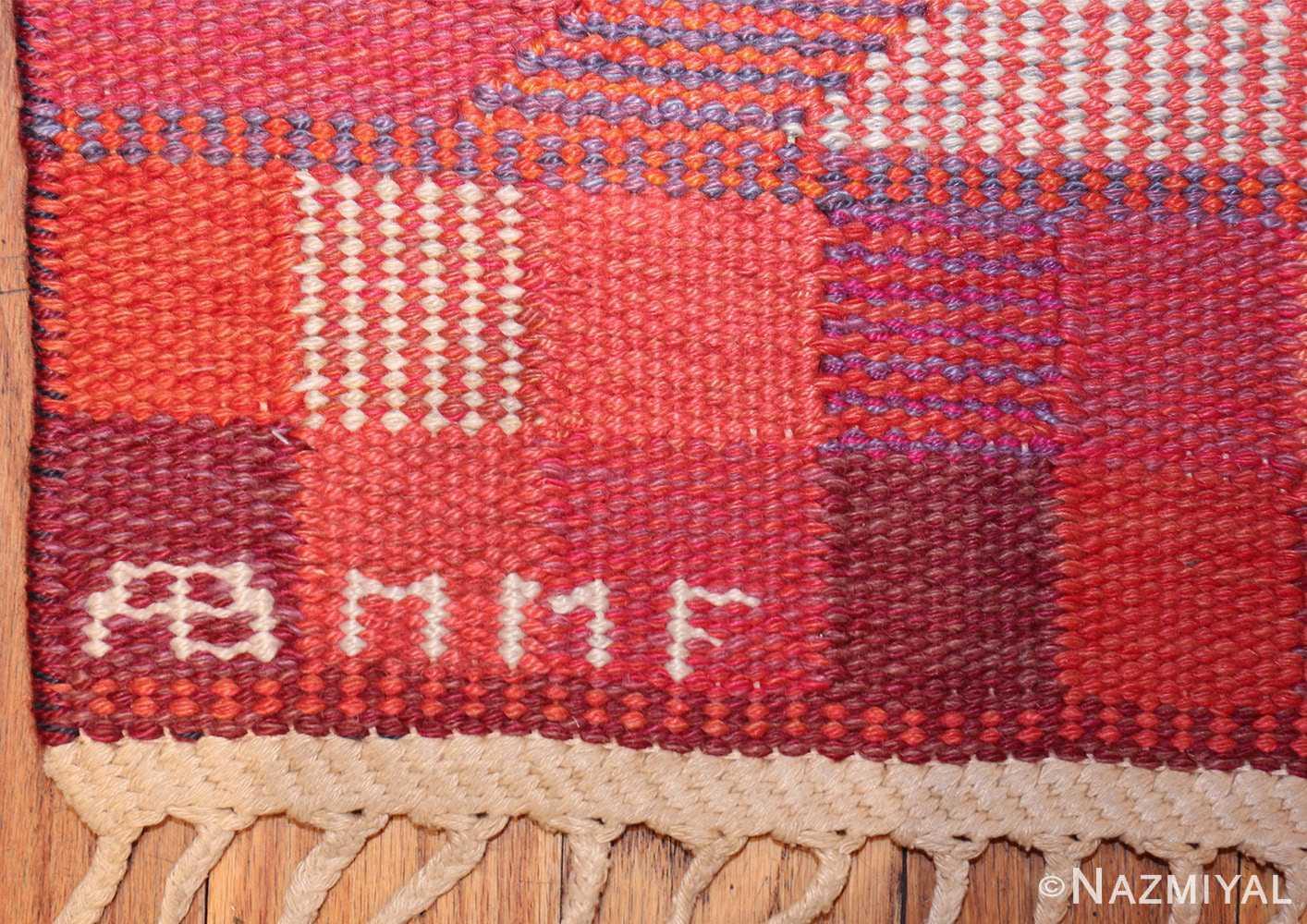 vintage geometric marta maas scandinavian rug by barbro nilsson 49563 mmf Nazmiyal