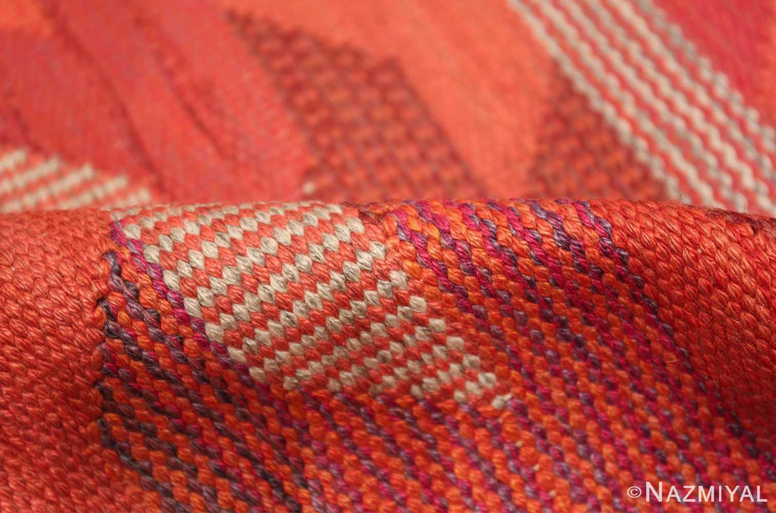 vintage geometric marta maas scandinavian rug by barbro nilsson 49563 pile Nazmiyal