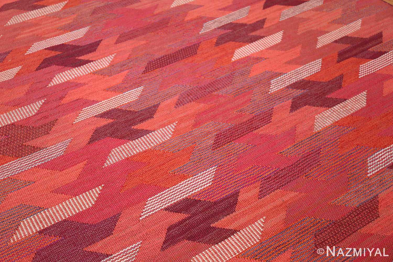 vintage geometric marta maas scandinavian rug by barbro nilsson 49563 side Nazmiyal