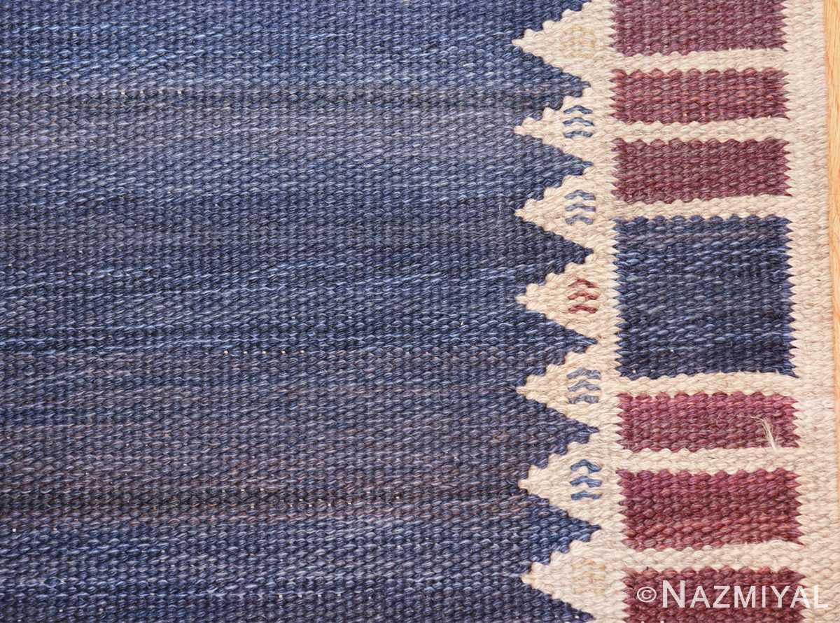 vintage geometric scandinavian kilim rug by barbro nilsson 49572 border Nazmiyal