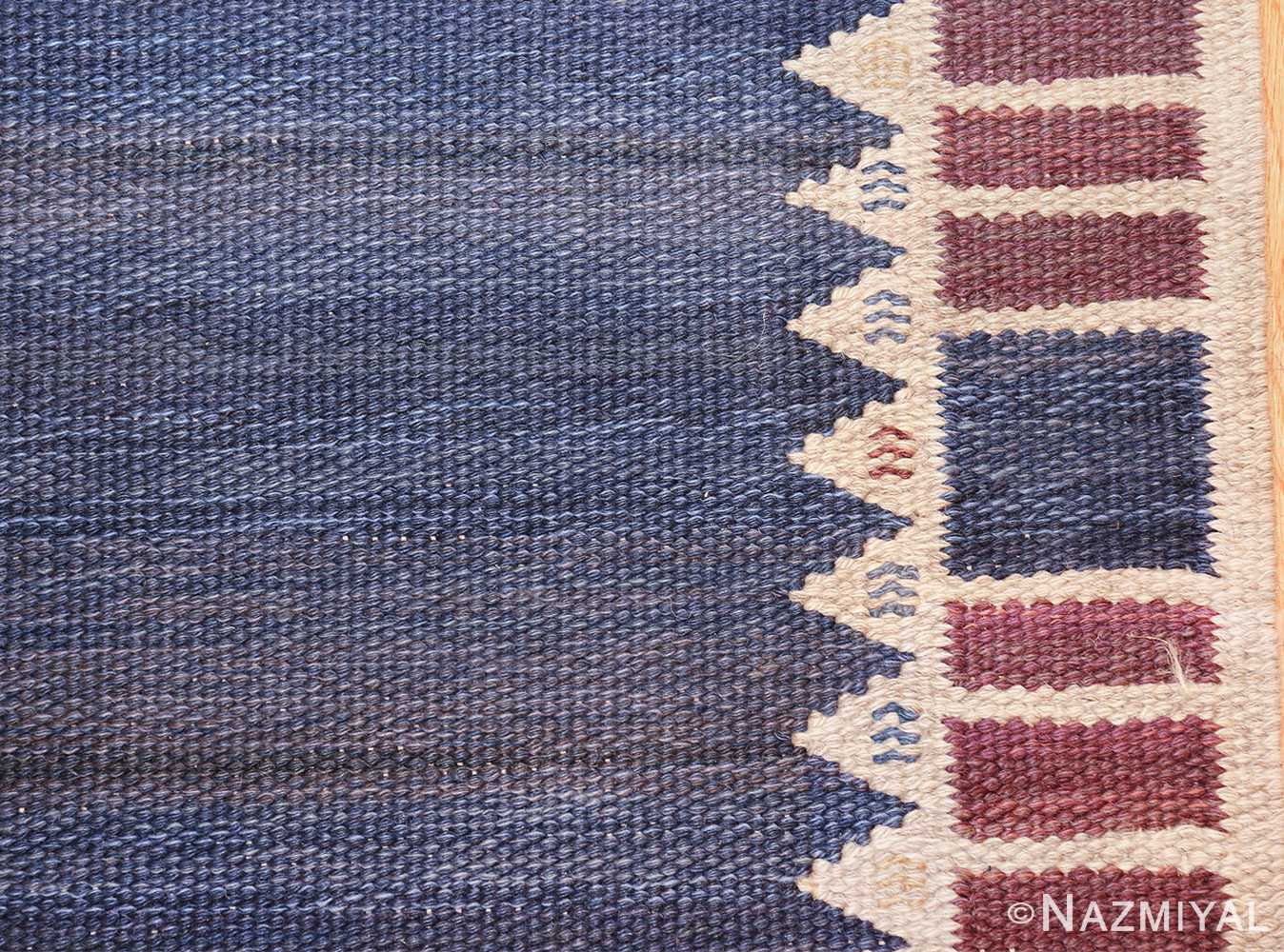vintage geometric scandinavian kilim rug by barbro nilsson 49572 border Nazmiyal