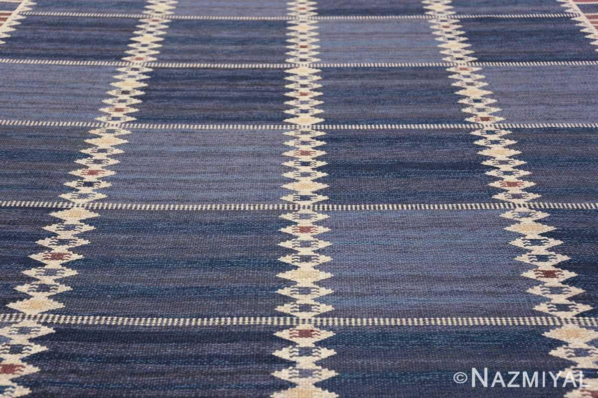 vintage geometric scandinavian kilim rug by barbro nilsson 49572 field Nazmiyal