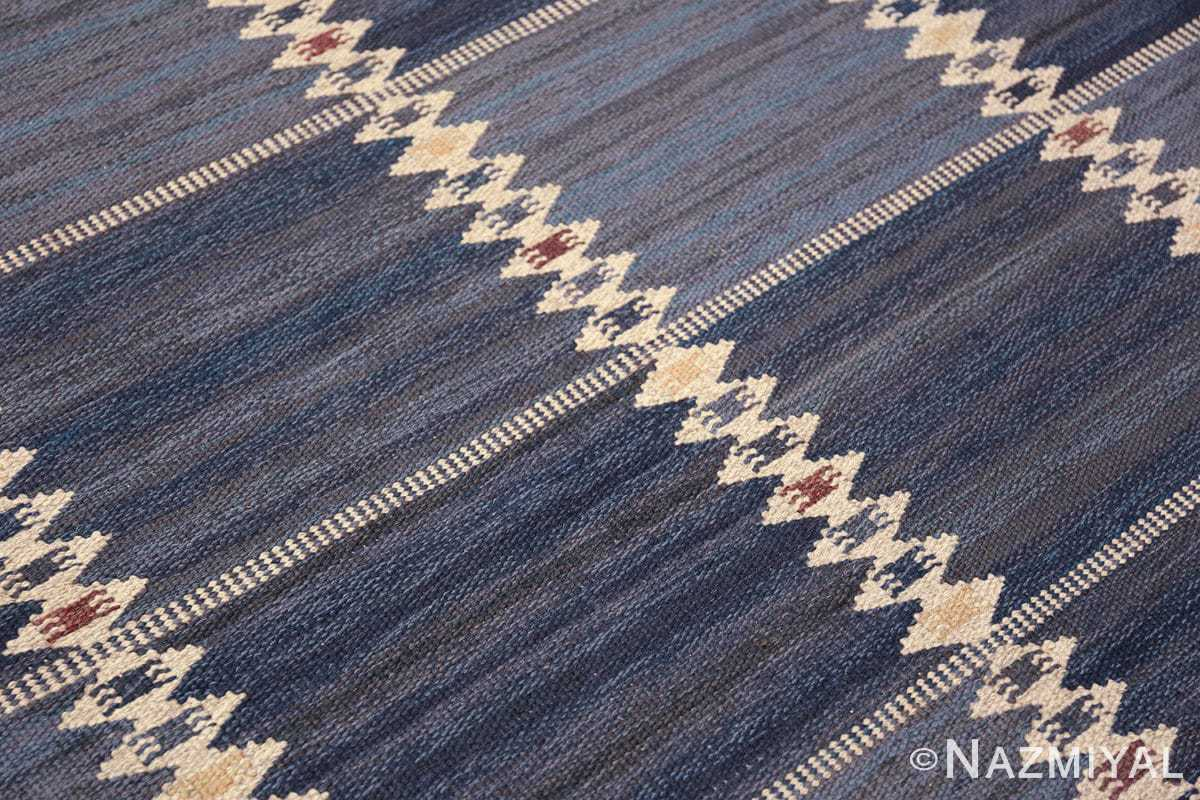 vintage geometric scandinavian kilim rug by barbro nilsson 49572 lines Nazmiyal