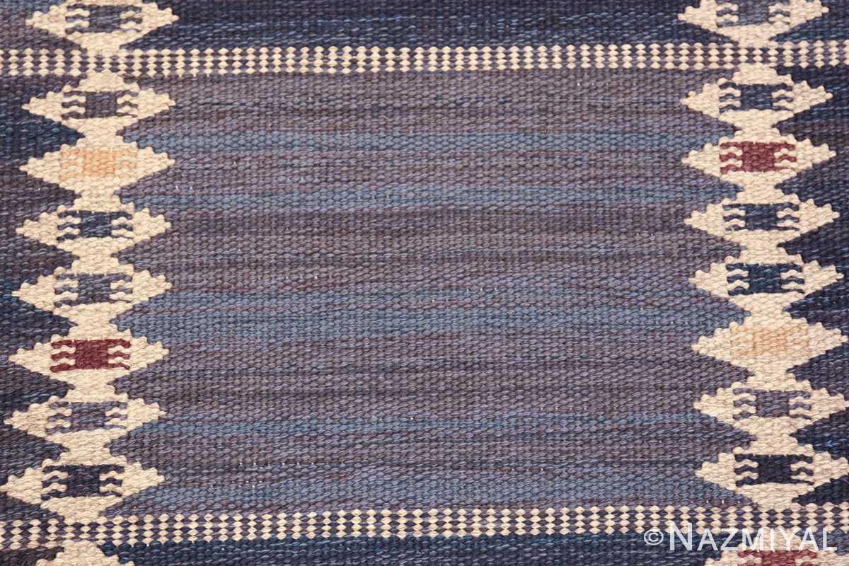 vintage geometric scandinavian kilim rug by barbro nilsson 49572 square Nazmiyal