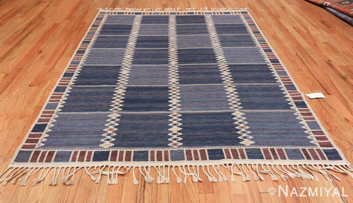vintage geometric scandinavian kilim rug by barbro nilsson 49572 whole Nazmiyal