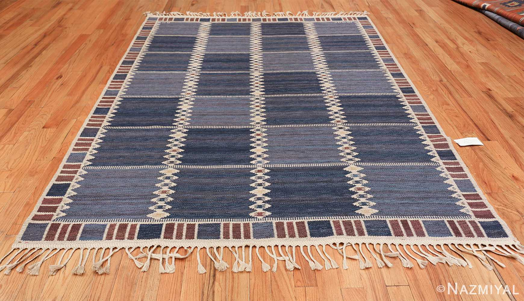 vintage geometric scandinavian kilim rug by barbro nilsson 49572 whole Nazmiyal