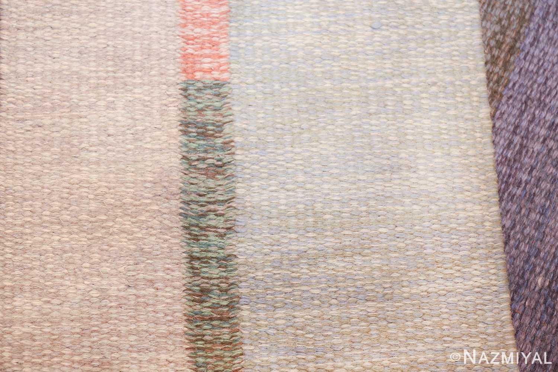 vintage geometric signed nn swedish scandinavian rug 49584 knots Nazmiyal